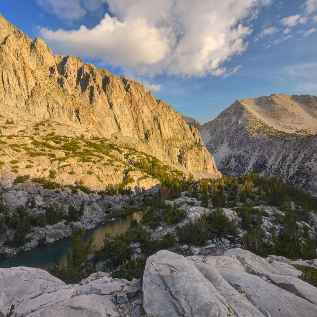 """Mount Alice and Finger Lake Below"" stock image"