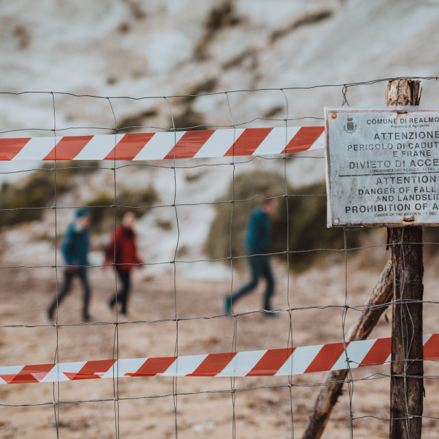 """Do not tresspass"" stock image"