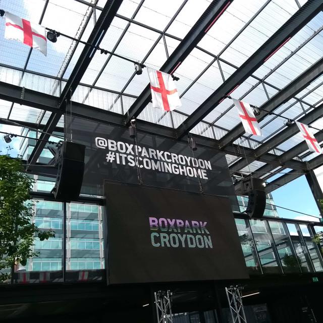 """Croydon Boxpark"" stock image"