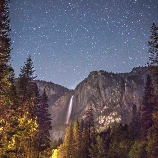 """Lover Falls Yosemite"" stock image"
