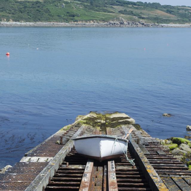 """Coverack Boat"" stock image"