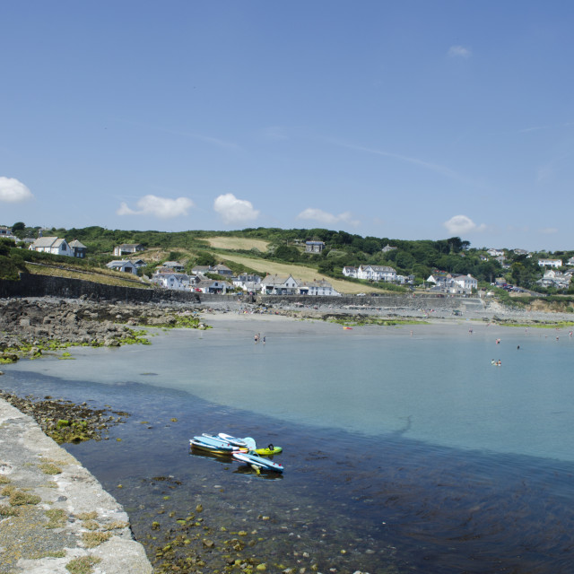 """""""Coverack Summer"""" stock image"""