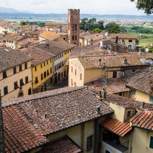 """Montopoli Rooftops, Italy"" stock image"