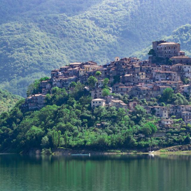 """Castel di Tora"" stock image"