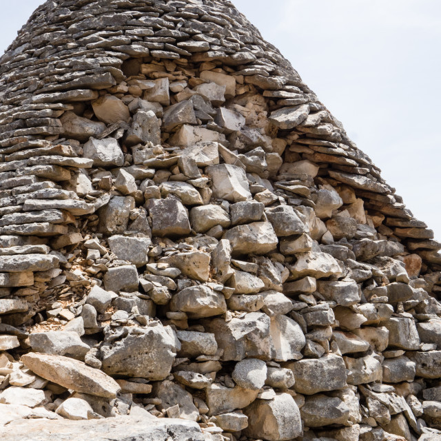 """""""Trulli/Trullo House Roof Detail"""" stock image"""