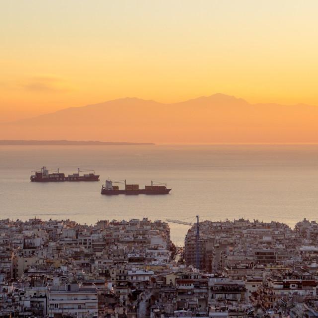"""""""Thessaloniki Sunset"""" stock image"""