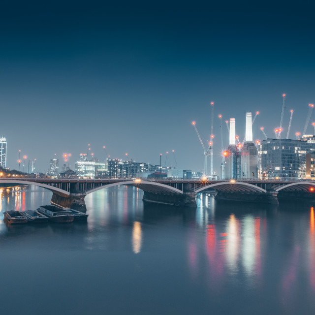 """Around Battersea"" stock image"