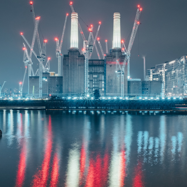 """""""Cranes of Construction"""" stock image"""
