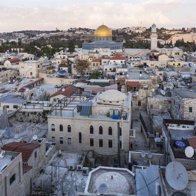 """""""Jerusalem, Old City view"""" stock image"""