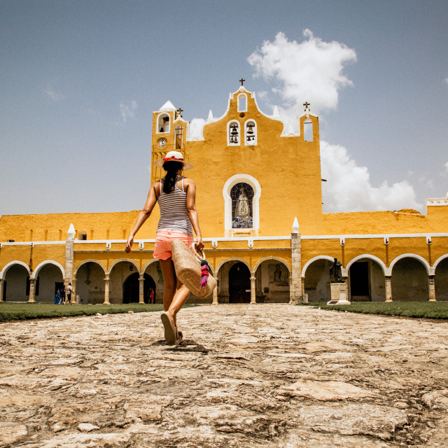 """Entrance to ex-convent in Izamal"" stock image"