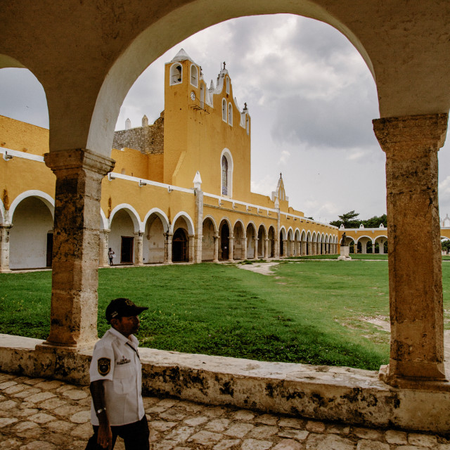 """Ex convent at Izamal, Yucatan Mexico"" stock image"