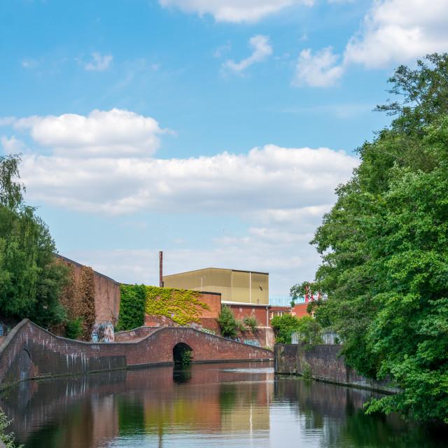 """Birmingham Canal Under the Sun"" stock image"