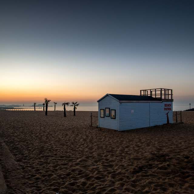"""Pre Summer Sunrise Clacton Beach"" stock image"