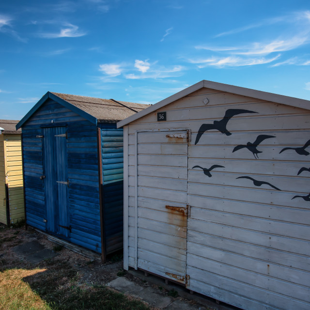 """Seagulls In The Shade At Dovercourt"" stock image"