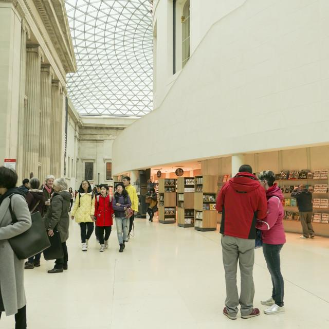 """Queen Elizabeth II Great Court at the British Museum"" stock image"