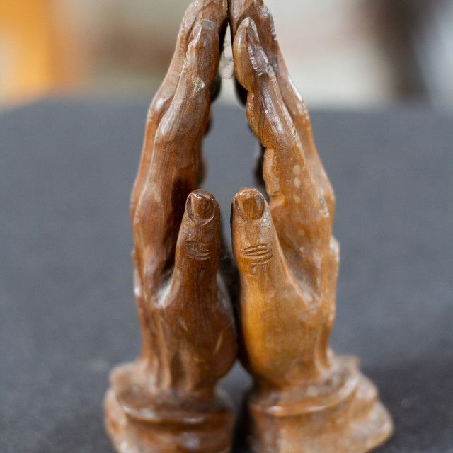 """Hands in Prayer"" stock image"
