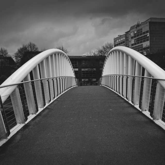 """Bridge across Great River Ouse"" stock image"