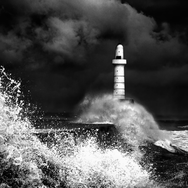 """Storm in B&W"" stock image"