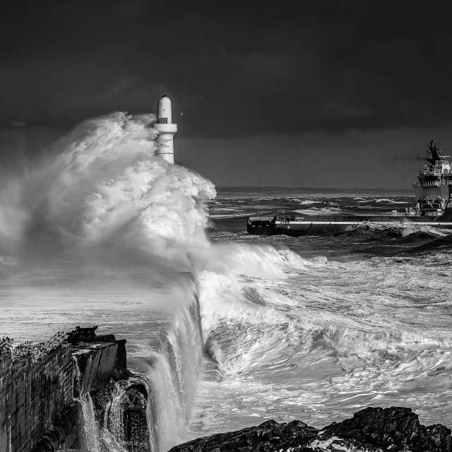 """Storm in Aberdeen"" stock image"