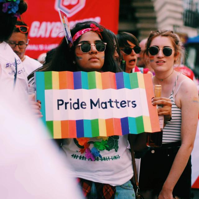 """Pride matters"" stock image"