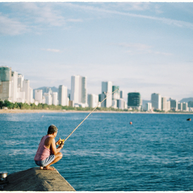 """Morning fishing"" stock image"