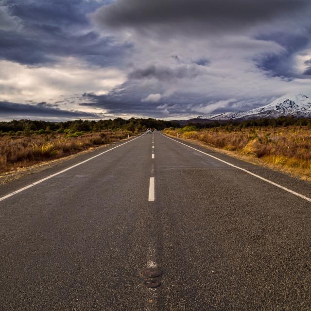 """""""Mt Ngauruhoe / Mt Ruapehu North Island New Zealand"""" stock image"""
