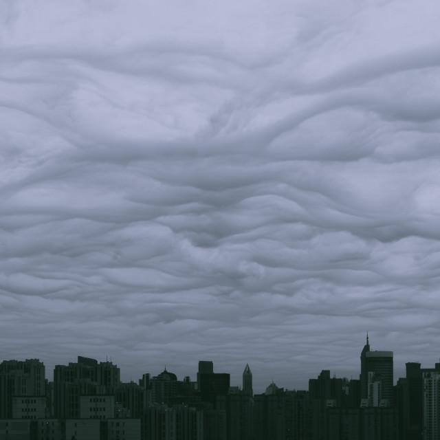 """Skyline by Van Gogh (I)"" stock image"