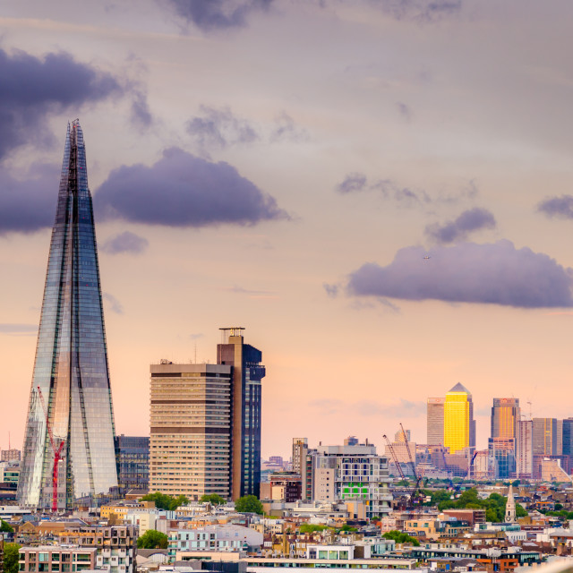 """""""Sunset over London"""" stock image"""