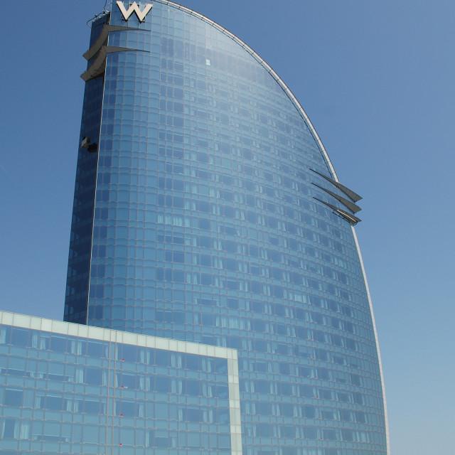 """W Hotel, Barcelona"" stock image"