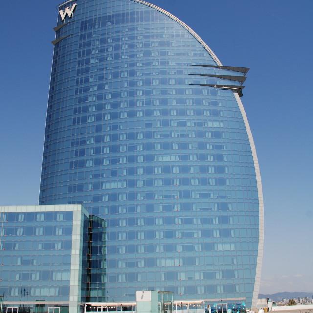 """""""W Hotel in Barcelona"""" stock image"""
