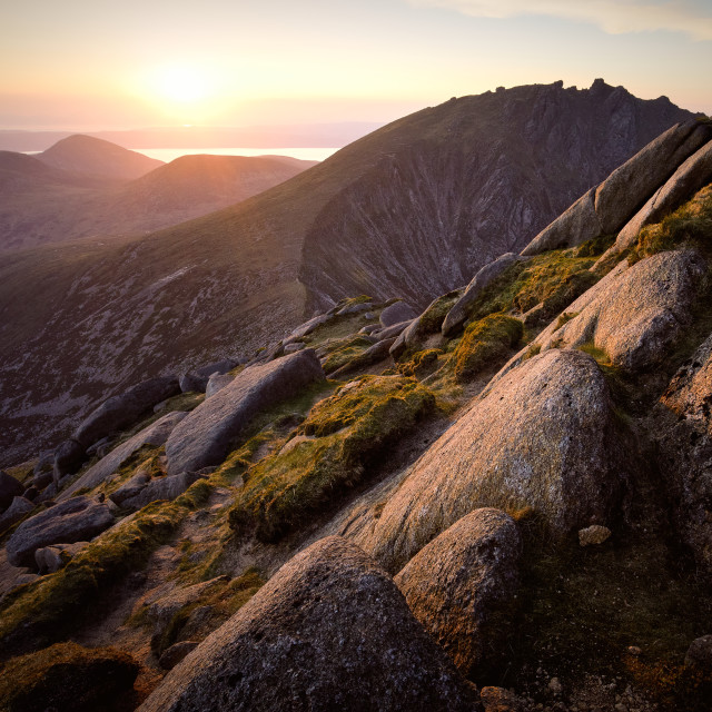"""Sunset From Cir Mhor"" stock image"