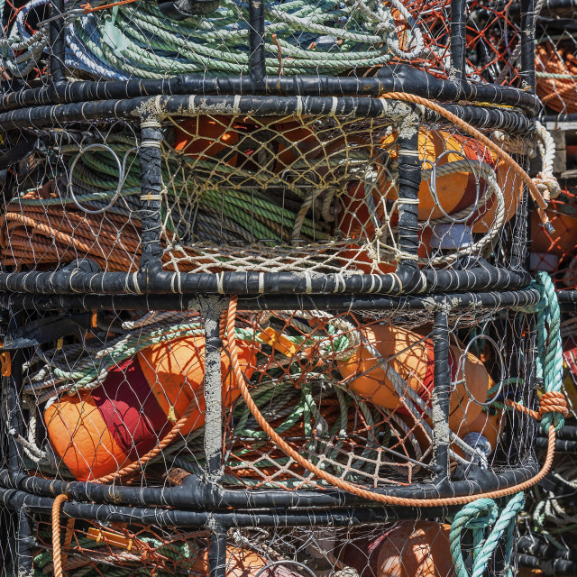 """""""Stacked crab pots"""" stock image"""
