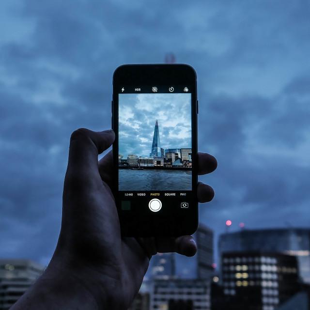 """Shard Through iPhone"" stock image"