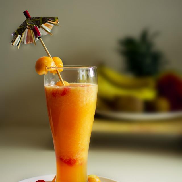 """""""Cantaloupe - Sweet Melon Juice"""" stock image"""