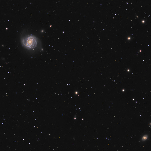 """Spiral galaxy M100 (Messier 100) in constellation Coma Berenicus"" stock image"