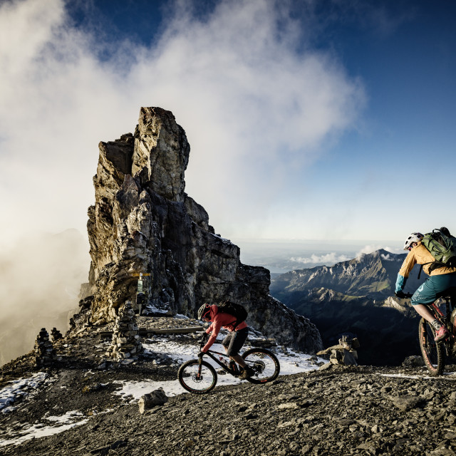 """Mountainbike Switzerland"" stock image"