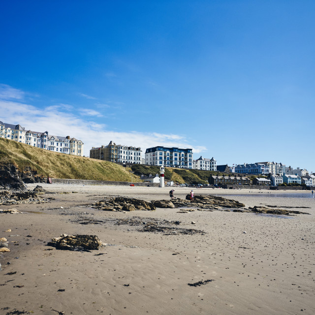 """""""Port Erin beach at low tide"""" stock image"""