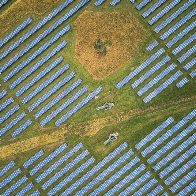 """Solar Farm"" stock image"