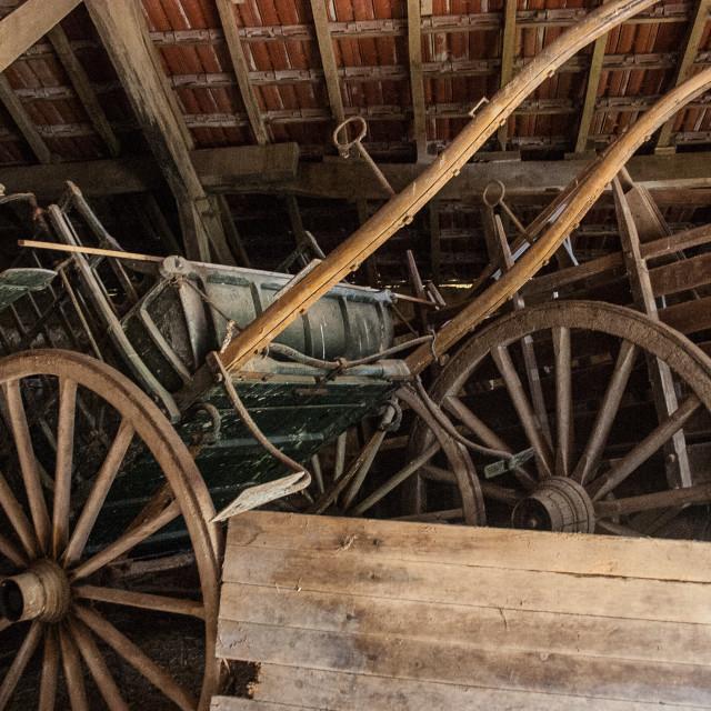 """Barn find in rural France"" stock image"