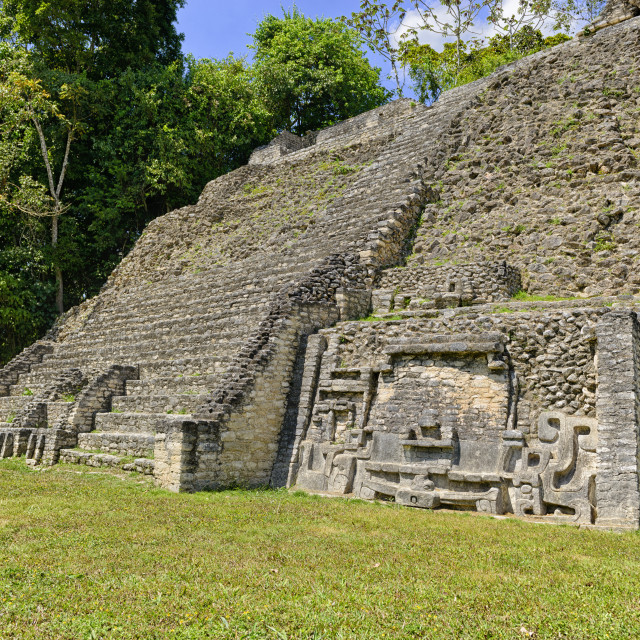 """Mayan ruins at Caracol"" stock image"