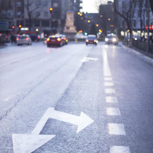 """City street road arrows"" stock image"