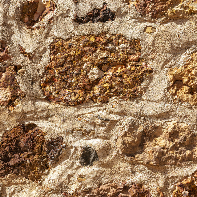 """Cemented rough stone wall"" stock image"