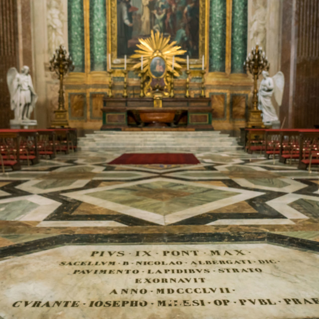"""Floor of church in Rome"" stock image"