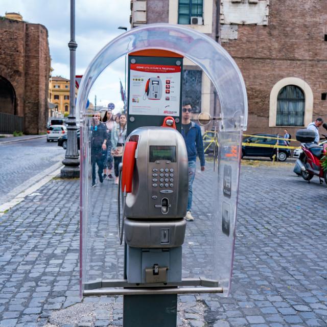 """Public pay phone"" stock image"