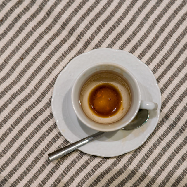 """Empty espress cup in Rome"" stock image"