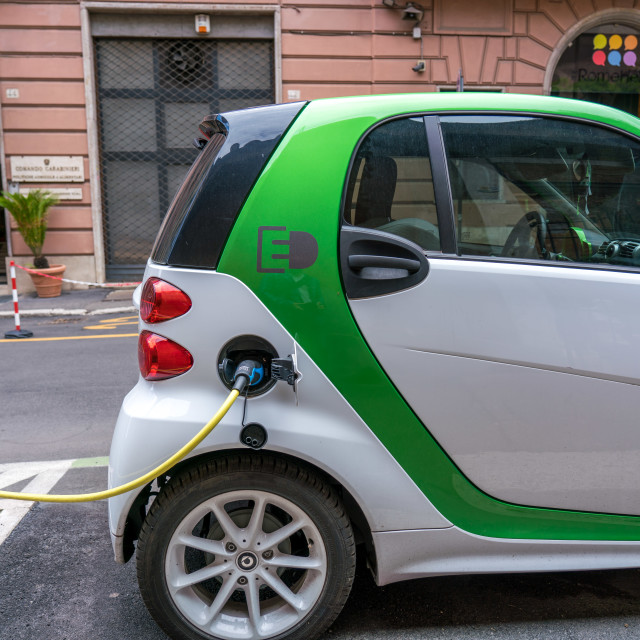 """Smart car electric charge"" stock image"