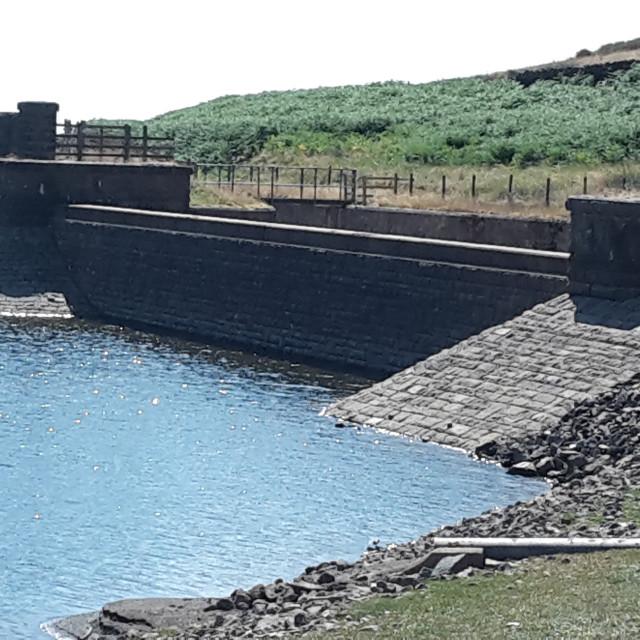 """Drought - Churn clough Reservoir"" stock image"