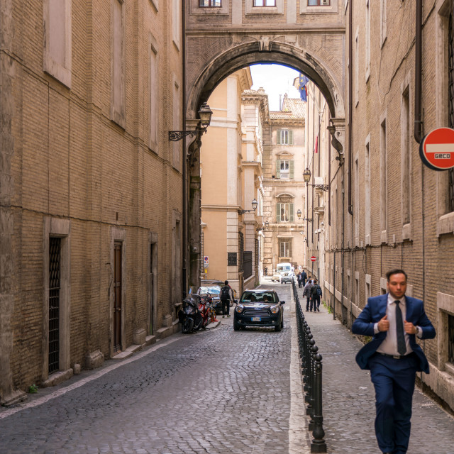 """Typical rome street"" stock image"