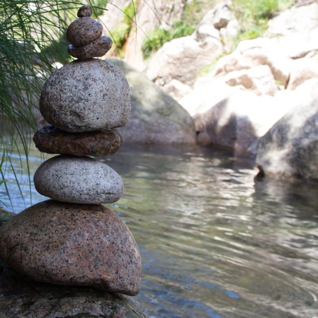 """""""Stone pile in Portela do Homem, Gerês, Portugal"""" stock image"""
