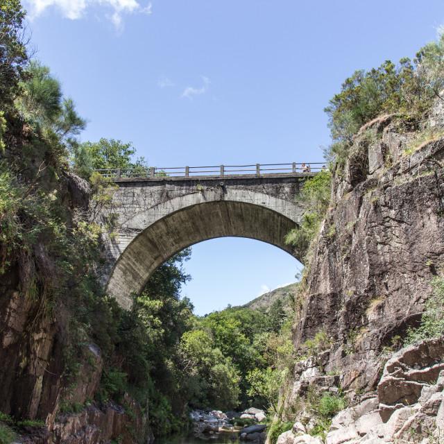 """""""The bridge in Portela do Homem, Gerês, Portugal"""" stock image"""